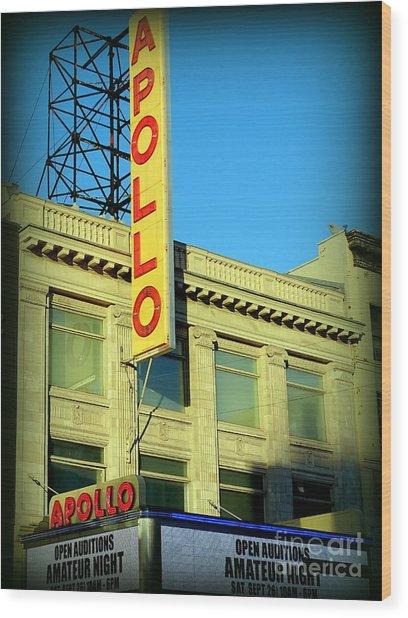 Apollo Vignette Wood Print