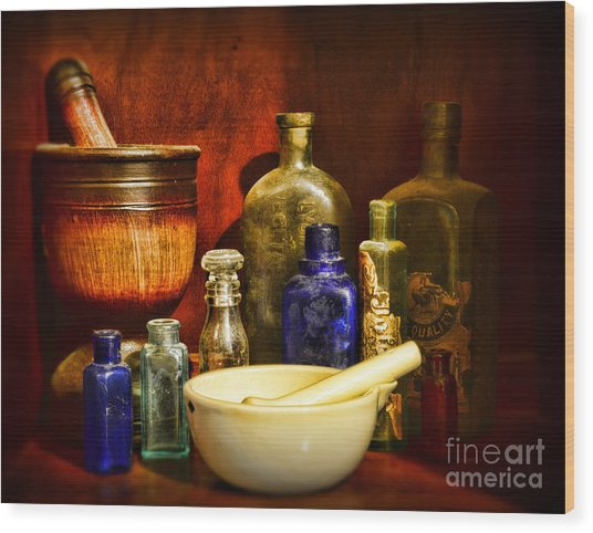 Apothecary - Tools Of The Pharmacist Wood Print
