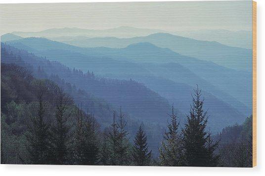 Appalachian Blue Wood Print