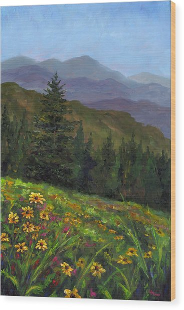 Appalachian Color Wood Print by Jeff Pittman