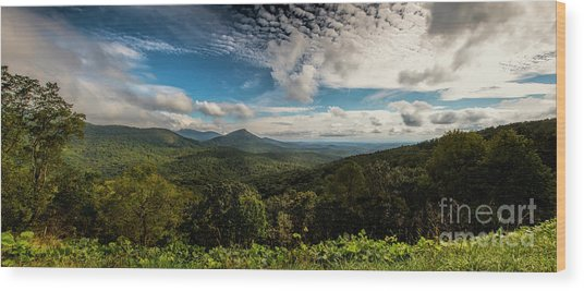 Appalachian Foothills Wood Print
