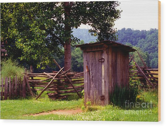 Appalachian Hill-ton Wood Print