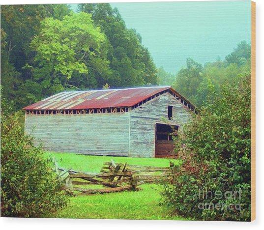 Appalachian Livestock Barn Wood Print
