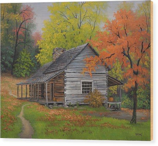 Appalachian Retreat-autumn Wood Print