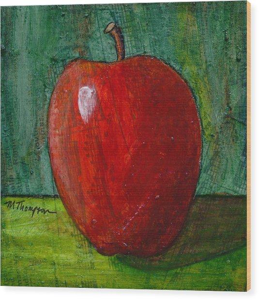 Apple #4 Wood Print