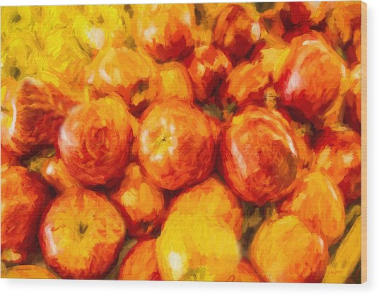 Apple A Day - Impressionism Wood Print by Barry Jones