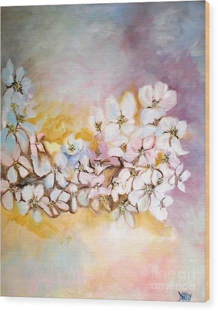 Apple Blooms Wood Print