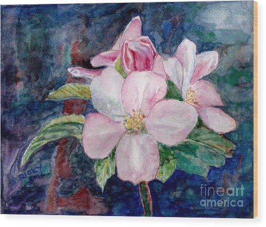 Apple Blossom - Painting Wood Print
