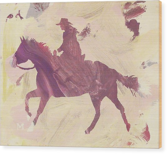 Apple Cowgirl Wood Print