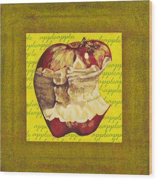 Apple Series Number Five Wood Print by Sonja Olson