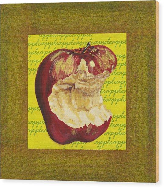 Apple Series Number Four Wood Print by Sonja Olson