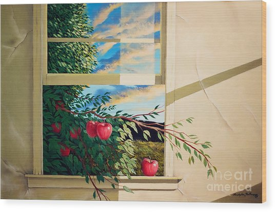 Apple Tree Overflowing Wood Print