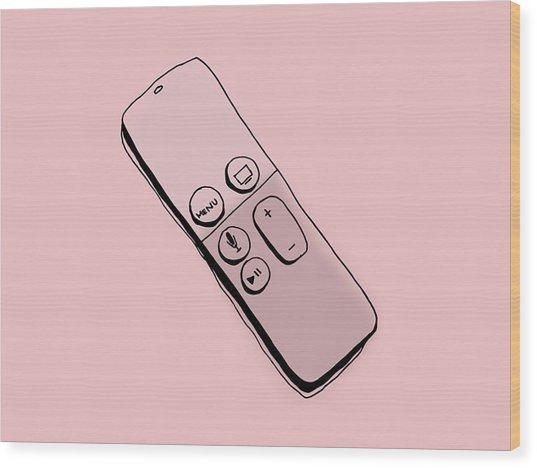Apple Tv Wood Print