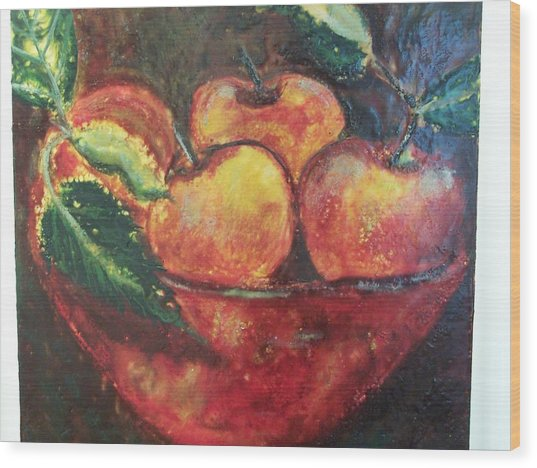 Apples Wood Print by Karla Phlypo-Price