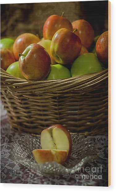 Apples To Share Wood Print