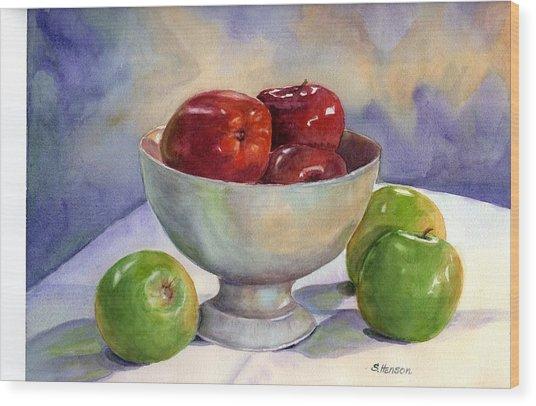 Apples - Yum Wood Print