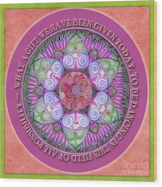 Appreciation Mandala Prayer Wood Print