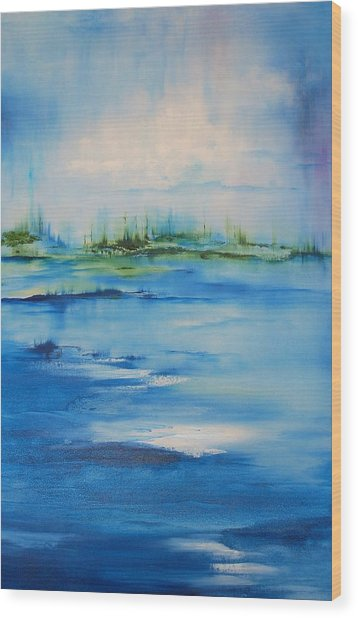 Approaching Storm Wood Print by Larry Ney  II