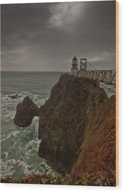 Approaching Storm Wood Print by Patrick  Flynn