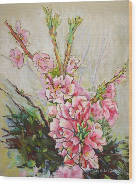 Apricot Energy Wood Print by Carole Haslock