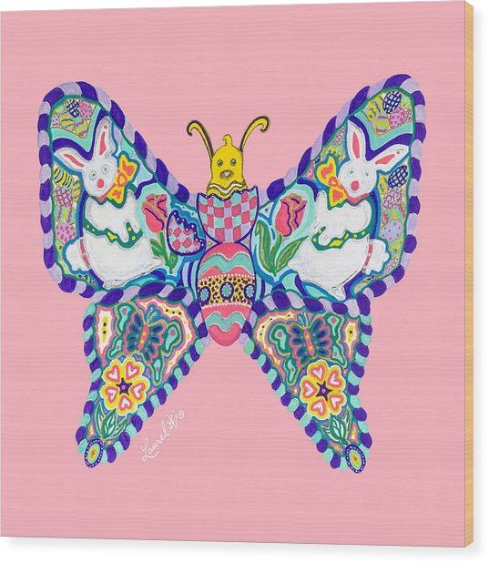 April Butterfly Wood Print