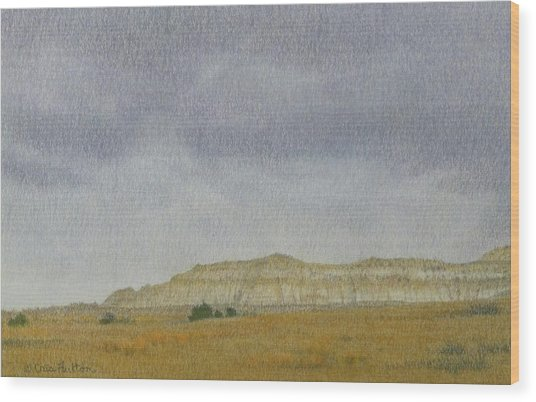 April In The Badlands Wood Print