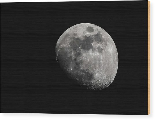 April Moon 2018 Wood Print