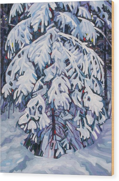 April Snow Wood Print
