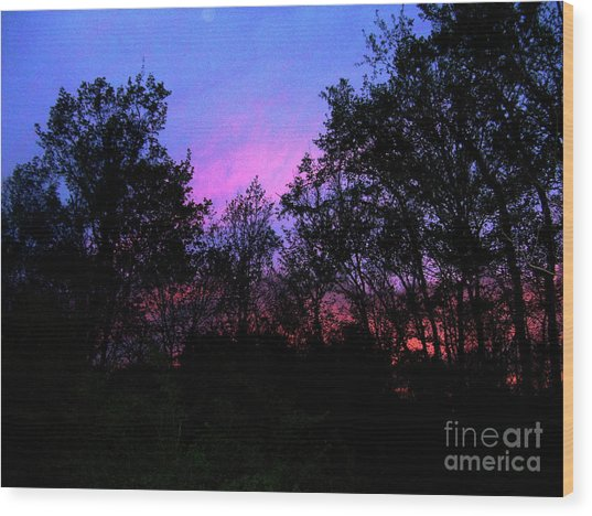 April Sunset Wood Print