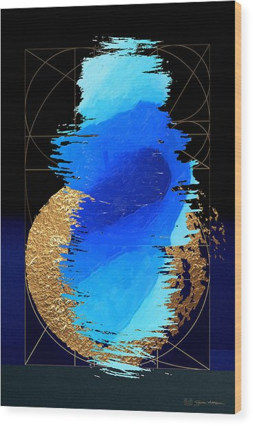 Aqua Gold No. 2 Wood Print