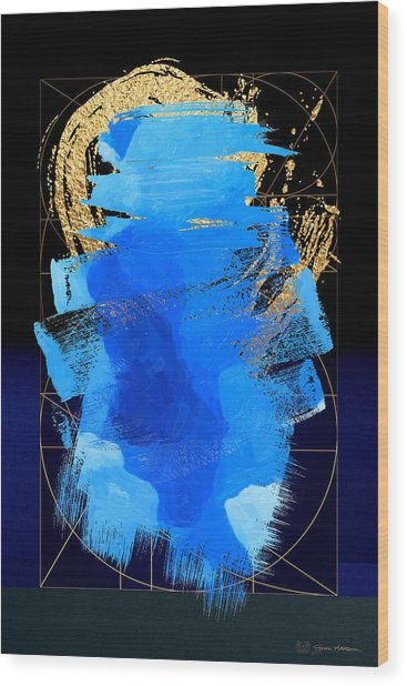 Aqua Gold No. 3 Wood Print