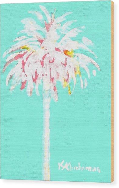 Aqua Marine Palm Wood Print