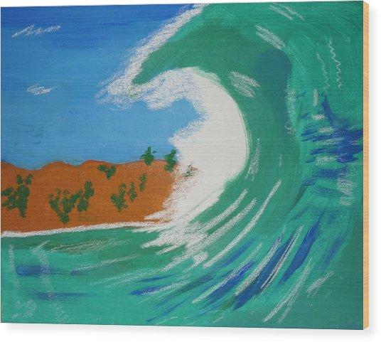 Aqua Passions Wood Print