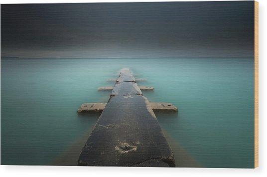 Aqua Velvet Wood Print