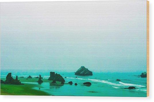 Aqua Waters Wood Print