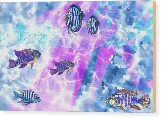 Aquarium 2 Wood Print