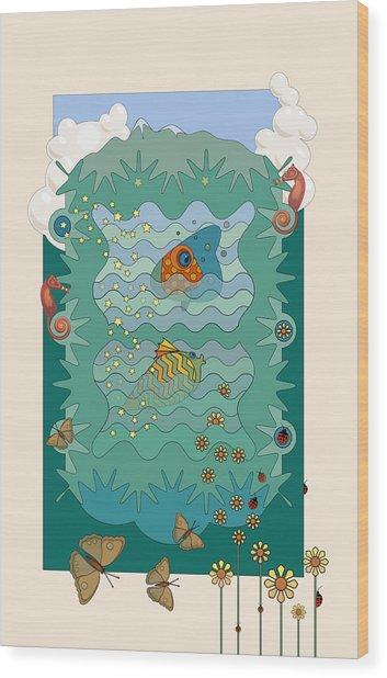Aquarium Wood Print by Edward Kinney
