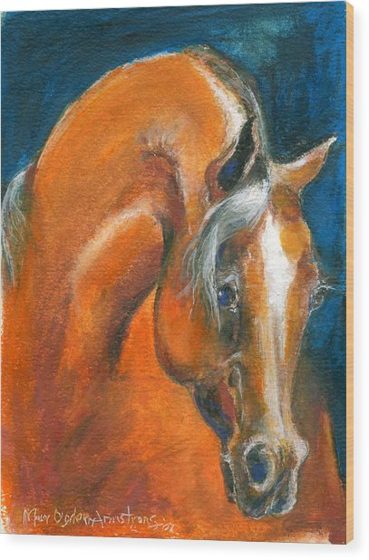 Arabian 1 Wood Print by Mary Armstrong