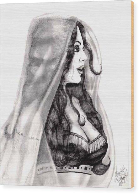 Arabian Beauty Wood Print by Scarlett Royal