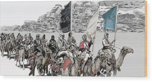 Arabian Cavalry Wood Print