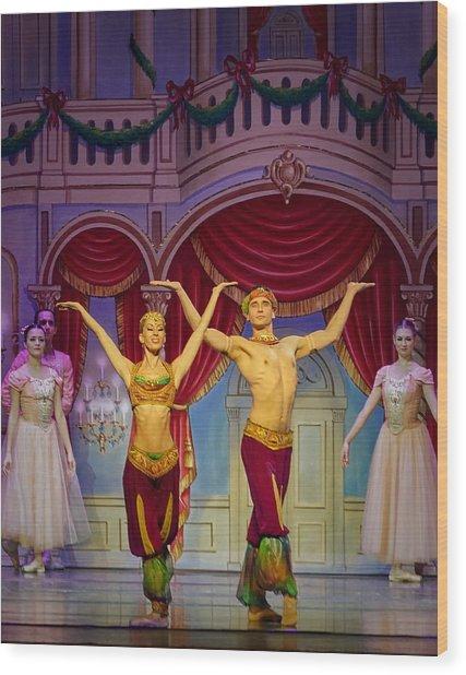 Arabian Dancers Wood Print