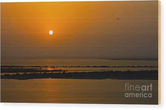 Arabian Gulf Sunset Wood Print