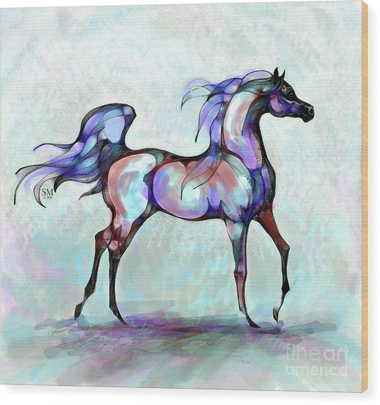 Arabian Horse Overlook Wood Print