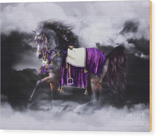 Arabian Horse  Shaitan Wood Print