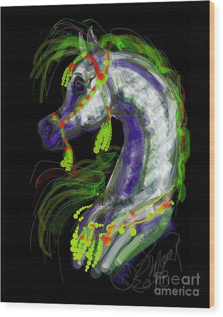 Arabian With Green Tassles Wood Print