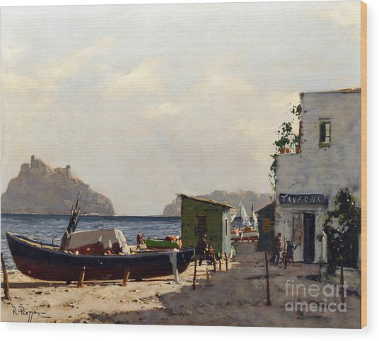 Aragonese's Castle - Island Of Ischia Wood Print