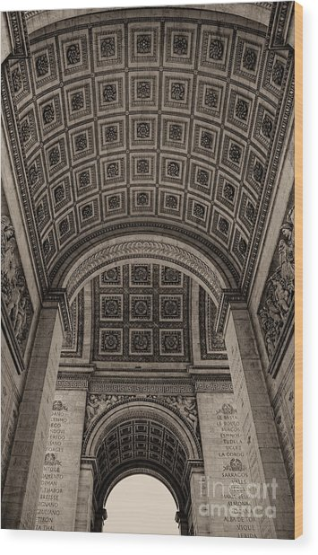 Arc De Triomphe Interior Wood Print