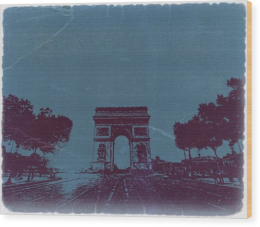 Arc De Triumph Wood Print by Naxart Studio