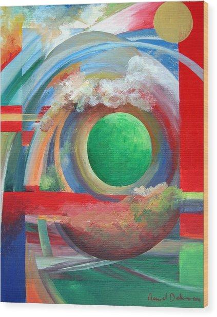 Arc Wood Print by Muriel Dolemieux