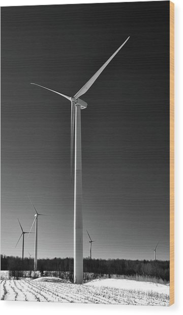 Arcade Wind Turbines 6557 Wood Print